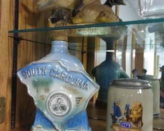 vintage collectible whiskey bottles