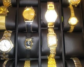 Part of the wrist watches we will have at this sale.