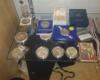 A few of the nearly 100 coins we have for this sale.