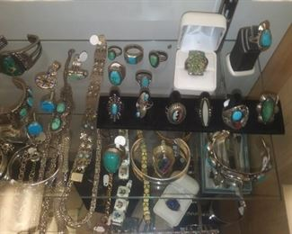 A small part of the Turquoise jewelry available at this sale