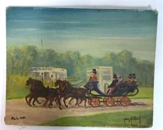 Paris 1850 Painting on Board