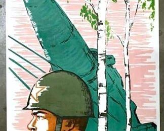 Vintage 1964 Russian Soviet Era Poster