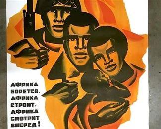 Vintage 1971 Russian Soviet Propaganda Poster