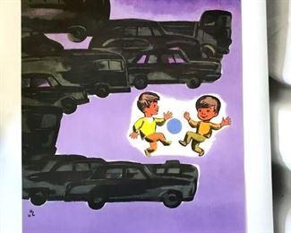 Vintage 1973 Russian Soviet Era Poster