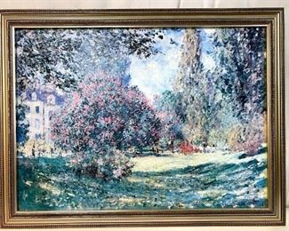 Framed MONET Canvas Print, The Parc Monceau