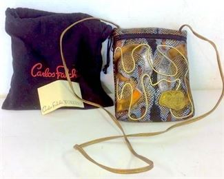 Authentic CARLOS FALCHI Leather Handbag