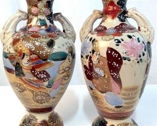 Pair Chinese Antique Painted Vases