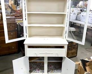 Vintage Country Kitchen Hutch