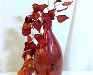 Red Toned Composite Vase