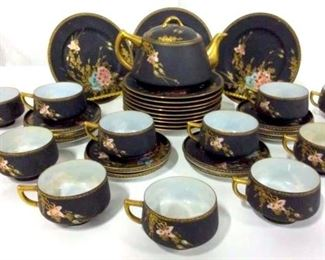 Lot 35 Partial Japanese SATSUMA Porcelain Set