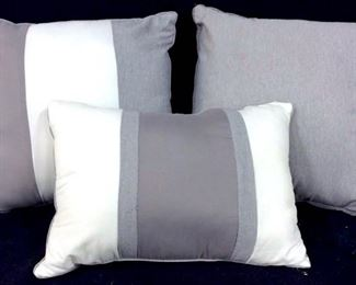Lot 3 Grey & White Toned Pillows