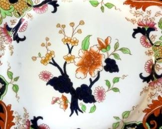 C1860 Antique Painted Porcelain, England