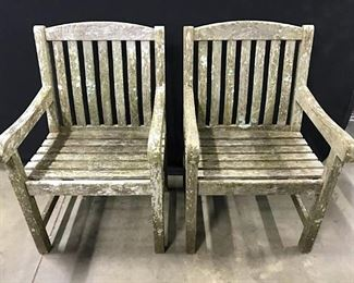 Lot 4 Smith & HAWKEN Outdoor Teak Wood Armchairs