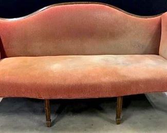 Vintage Federal Style Upholstered Sofa