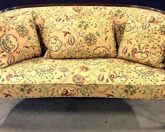 Vintage Floral Detailed Upholstered Loveseat
