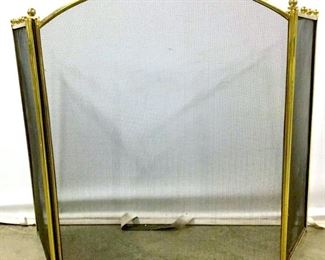 Brass Tri Fold Fireplace Screen