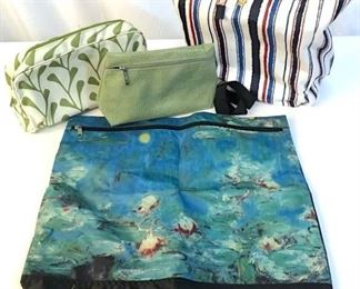 Lot 4 Assorted Tote Bags And Purses