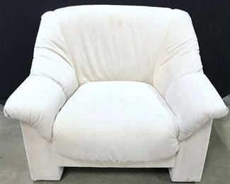 Vintage Cream Toned Upholstered Arm Chair