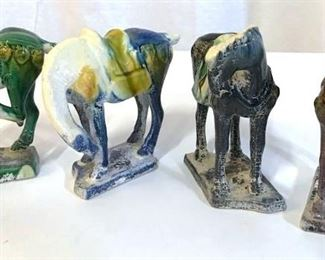 Collectible Vintage TANG Horse Figurals, 4
