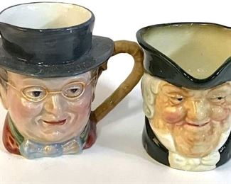 Collectible Vintage TOBY Dematasse Jugs, Lot 10