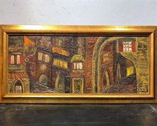 Signed Alma TESCH 'Fresco de Arte' Artwork