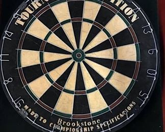 Brookstone Wall Cabinet Dartboard, Tournament Ed
