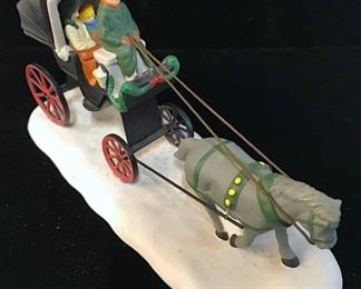 Traditional English Carriage Ride Ceramic Figural