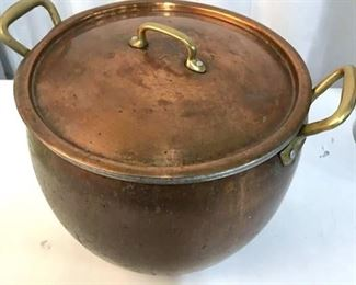 Vintage RUFFONI Oversized Copper Pot, Italy