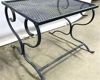 Outdoor Blue Toned Metal Side Table