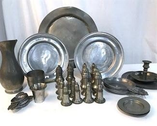 Lot 33 Vintage Pewter Table Serverware