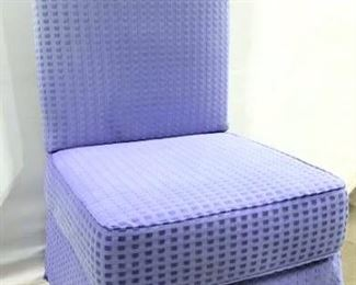 Lavender Toned Skirted Chair