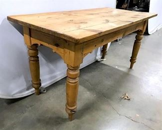 Vintage Carved Wood Dining Table