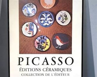 Framed Picasso Exhibition Poster Print