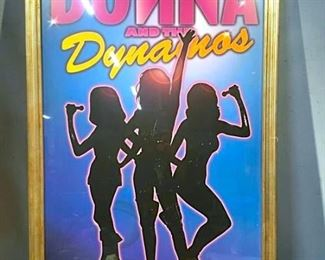 Donna and the Dynamos Poster Print, Framed