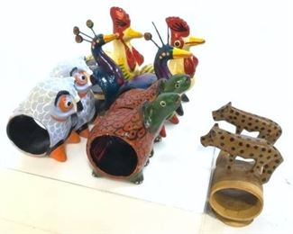Animal Figurine Napkin Rings, set 10