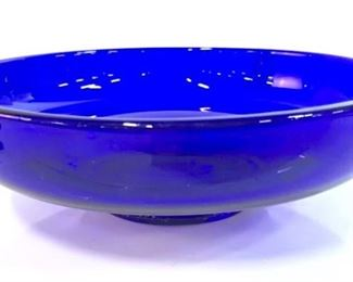 Vintage Cobalt Art Glass Bowl