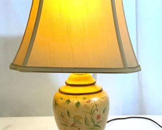 3 Way Light Painted Ceramic Table Lamp
