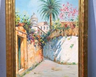 Signed Oil on Board, Summer in Italy