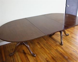 1866 Kittinger Buffalo Dining Table with Single Leaf and Tilting Tops