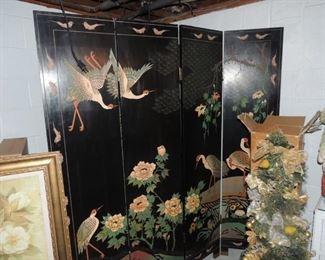 vintage oriental room screen