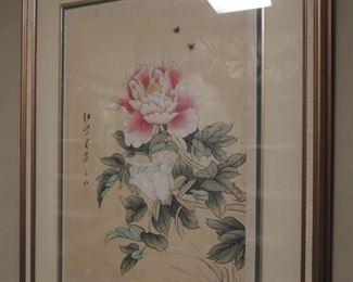 vintage oriental silk