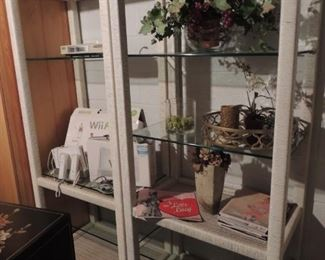 pair of lighted display shelves, great for a business!