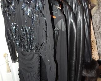 designer and boutique clothing, leather jackets, skirts, vests