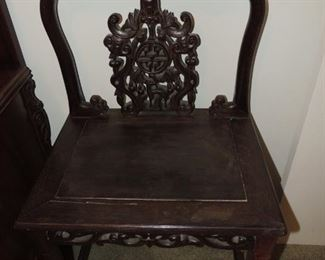 carved oriental chair