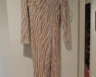 Bob Mackie gown custom made in his LA studio