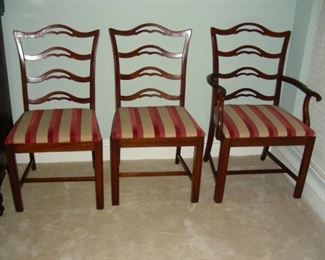 Set of 6 ladder back chairs (see next photo for the others)