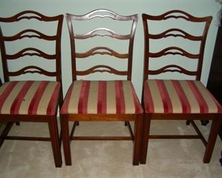 Set of 6 ladder back chairs (see previous photo for others)