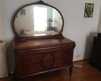 Bureau- Part of Six piece 100 year old Antique Bedroom Furniture Suite in Mint Condition