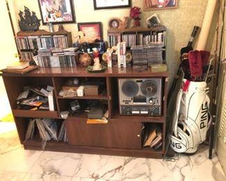 Records, CD's, reel to reel