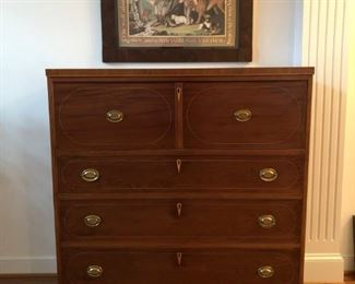 Late 18th - Early 19th Century Rare Federal Period Antique Connecticut Butler's Desk/Chest.
